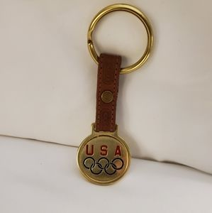 Vintage Coach Leather Soecial Edition Key Ring
